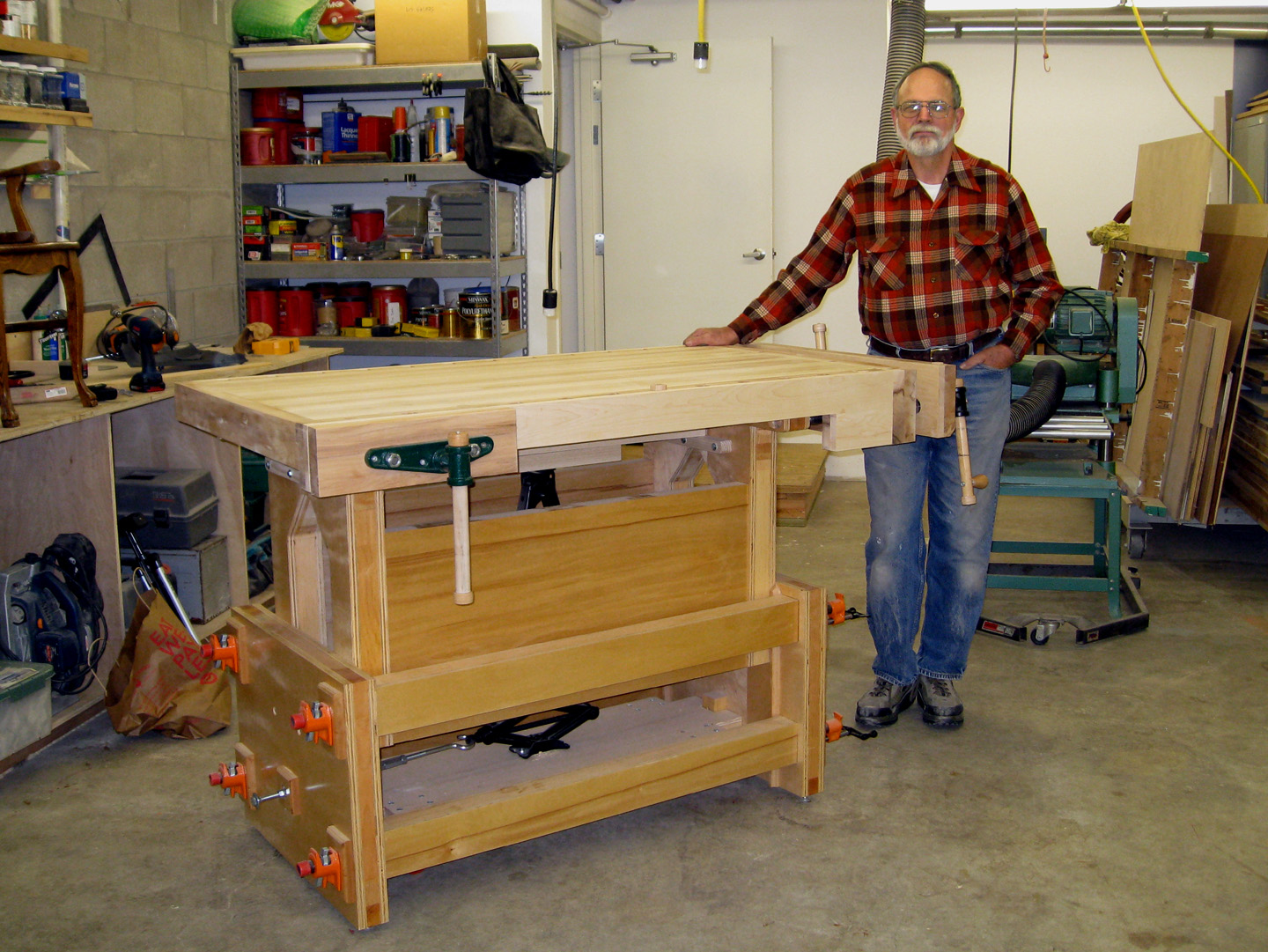 David Adjustable Height Workbench - Jack Bench by Charlie ...
